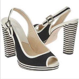 Micheal Kors Black & white heels - size 9